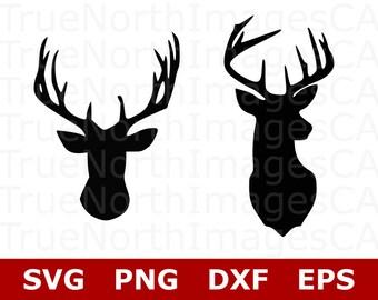 Deer SVG File / Deer Head SVG / Deer Clipart / Deer Head Clipart / Deer Vector / Hunting SVG Files / Svg Files for Cricut / Silhouette