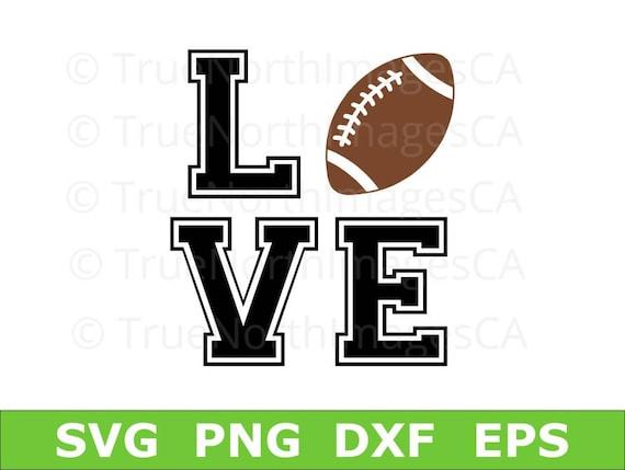 Download Football SVG / Football Love SVG / Football Clipart /   Etsy