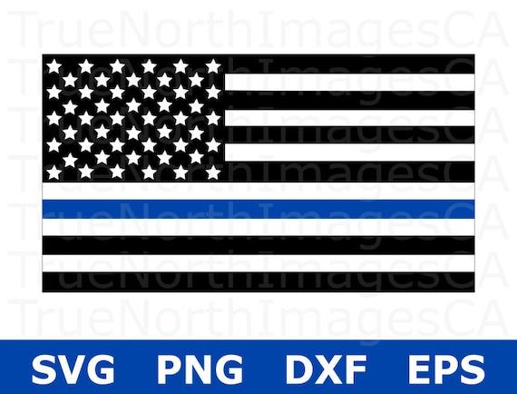 bb8345799 Thin Blue Line Flag SVG / Thin Blue Line SVG / Police SVG / | Etsy