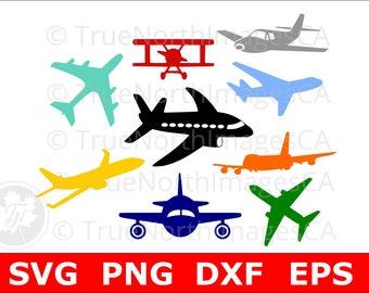 Airplane SVG / Airplane Clipart / Planes Clipart / Airplane Silhouette / Airplane SVG Bundle / SVG Files for Cricut / Silhouette Files