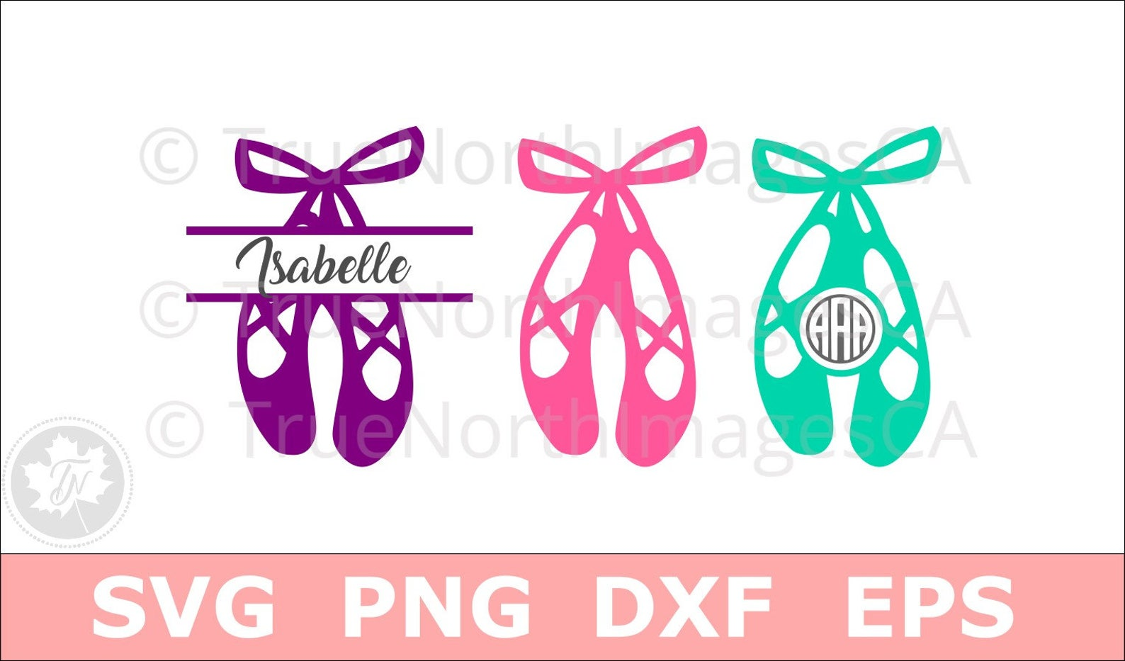 ballerina svg / ballet shoes svg / ballet shoes monogram svg / dance svg / svg files for cricut / silhouette files