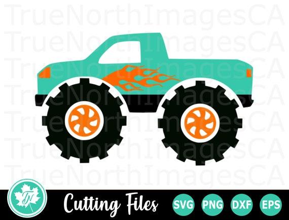 Monster Truck Svg File Monster Truck Clip Art Monster Etsy