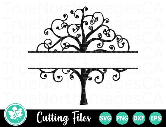 Tree Svg Family Free Svg Tree Clipart Tree Monogram Svg Etsy