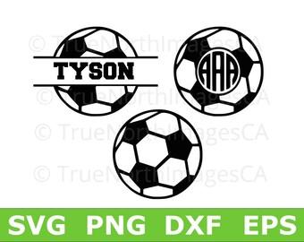 Soccer Ball SVG / Circle Monogram SVG / Split Monogram SVG / Soccer Ball Monogram / Soccer Clipart / Soccer svg / Soccer Vector / svg Files