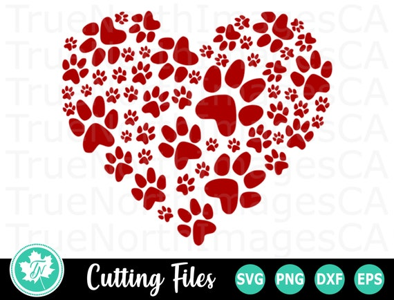 Download Paw Print SVG / Paw Print Heart SVG / Dog SVG / Svg Files ...