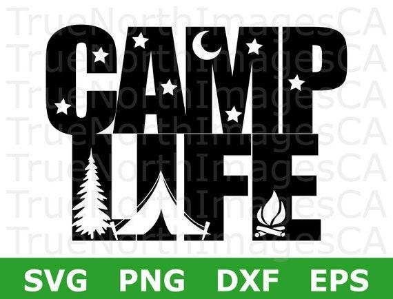 Camper SVG Happy Camping Vector