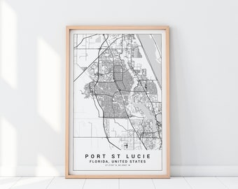 Where Is Port St Lucie Florida On The Map.Port St Lucie Etsy