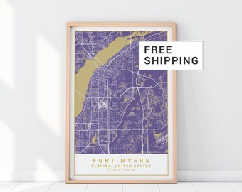 Map Of Clearwater Florida.Clearwater Florida Etsy