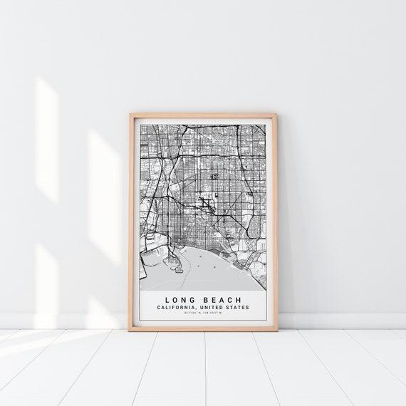 Long Beach Map Print, Long Beach Poster, Long Beach California Map, Long  Beach Map Print, Long Beach Map Poster, Holidays or Christmas Gift