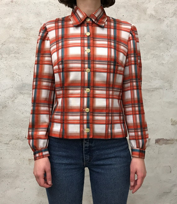 vintage 60's striped shirt - image 1