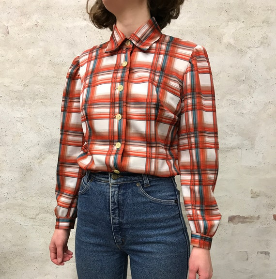 vintage 60's striped shirt - image 3