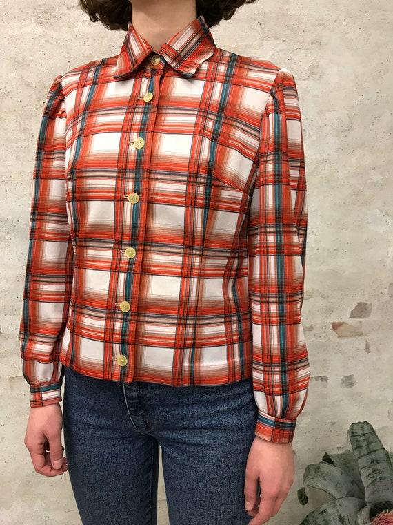 vintage 60's striped shirt - image 2