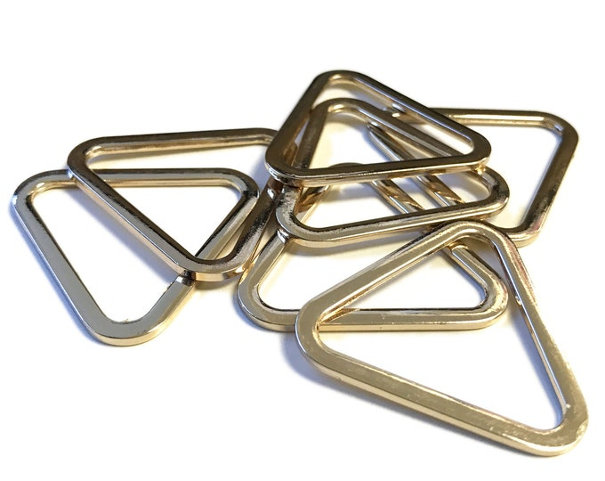 Triangle metal buckle(Gold, Silver)