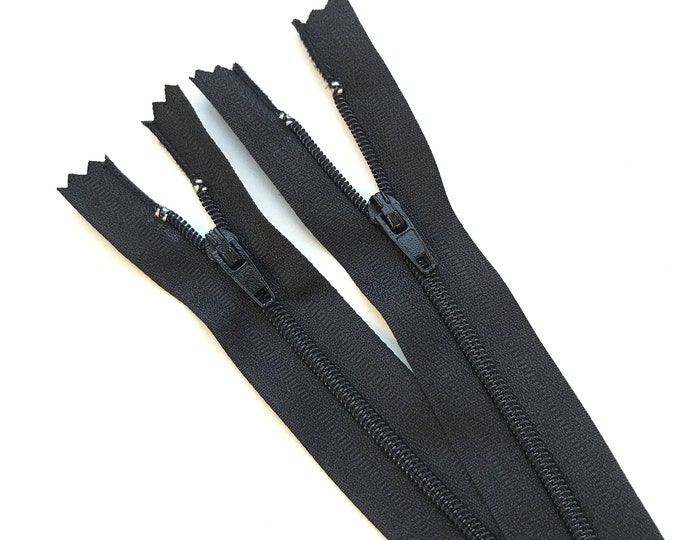 "Black, Charcoal Pants zipper - Nylon Coil Zipper(5.5"", 6"". 6.5"") - DA5 puller"
