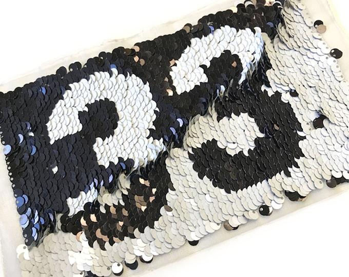 Reversible Sequin Applique, Sew on Patch