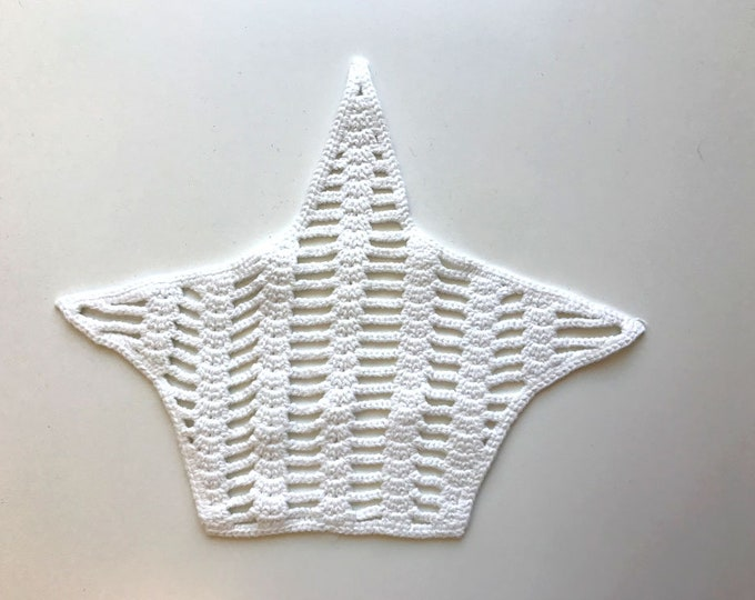 Ray shape off white lace patch