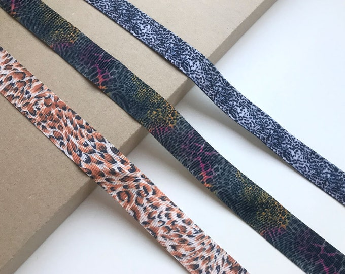 Leopard, Jaguar Animal Ribbon tape trim 1 ""