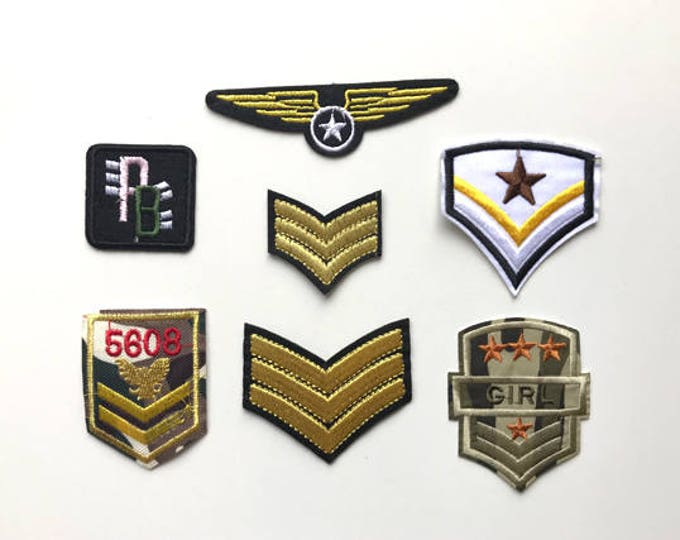 Fashion Military Applique, Iron on Patch, Sew on Patch