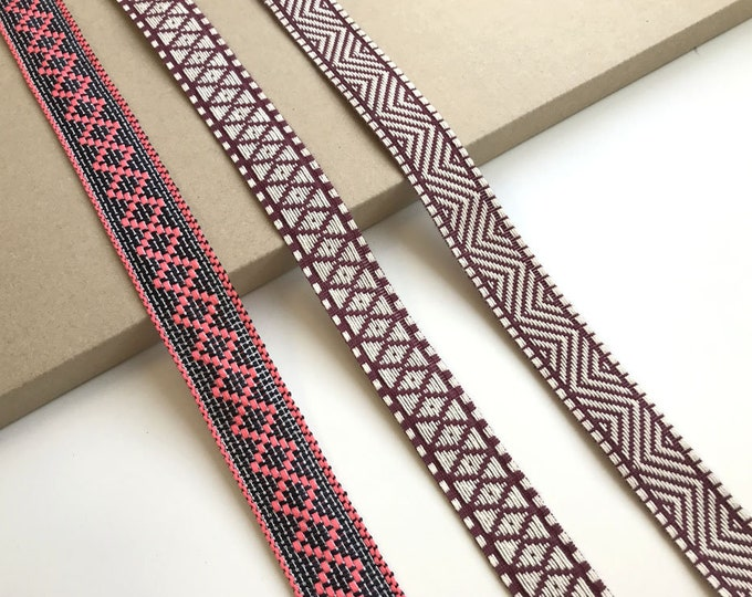 Jacquard trim tape(Soft touch; tribal)