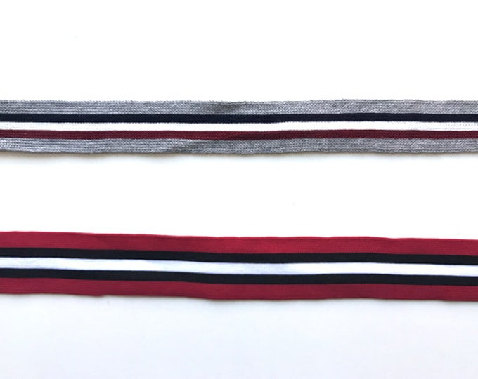 "Multiple colorway 1~1 1/4"" rib knit trim"