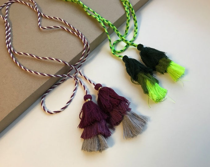 Multiple colors and layers TASSEL CORD STRING