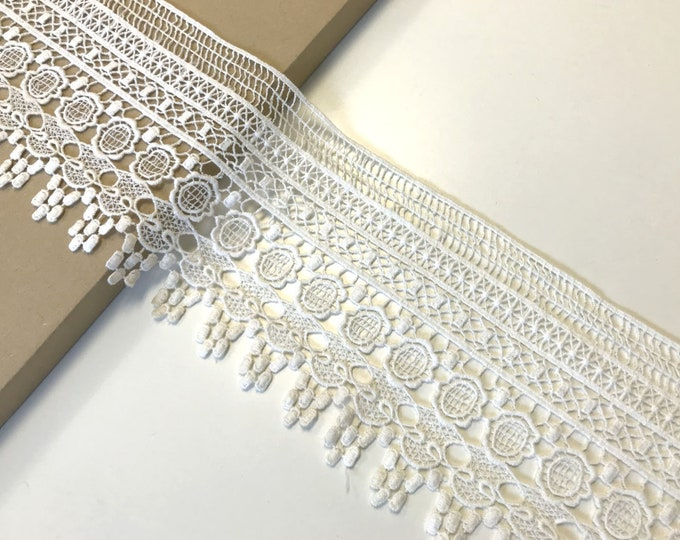 "Off White color 5"" lace trim"