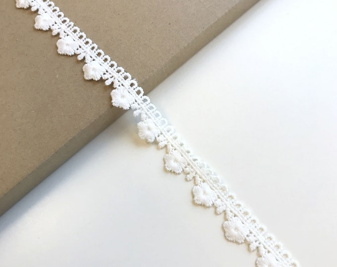 Off White Poly Edge Lace Trim 1""