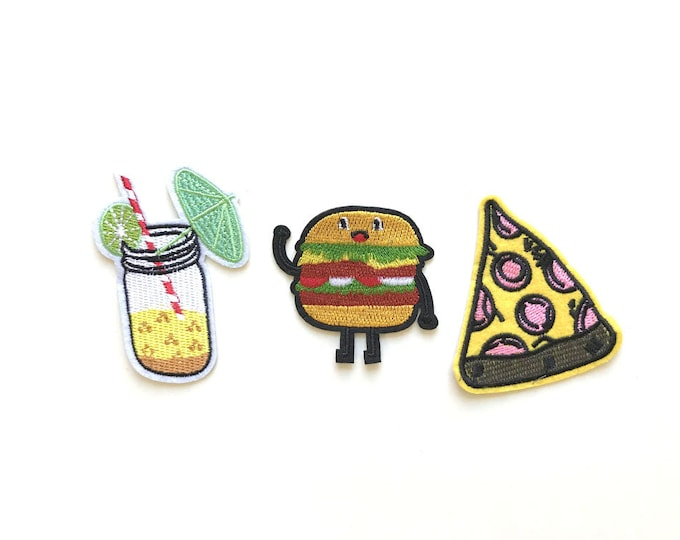 3 Various Embroidery Applique(foods), Iron on Patch, Sew on Patch (PATCH 1)