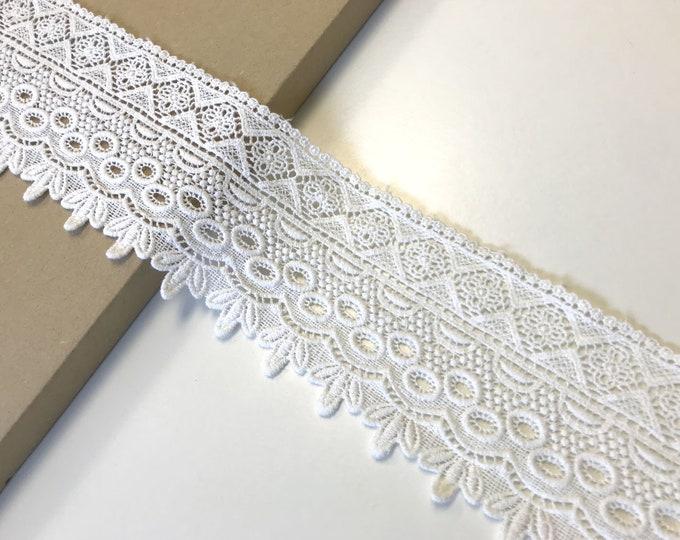"Off White color 3 1/2"" lace trim"
