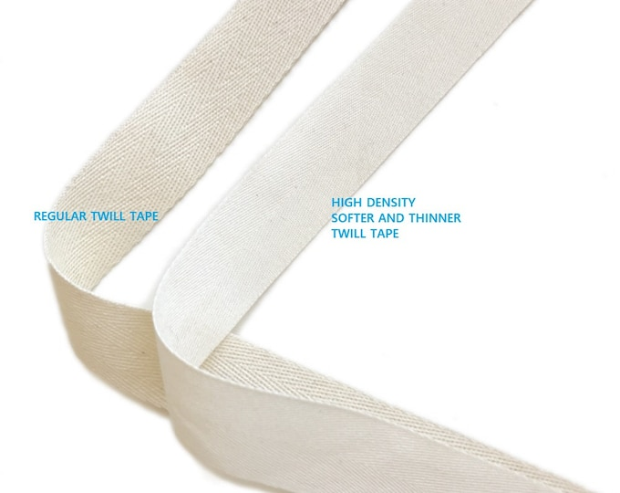 "Natural Soft and Fine Cotton twill tape( 1/2, 3/4, 1, 1 1/2"", 2"")"