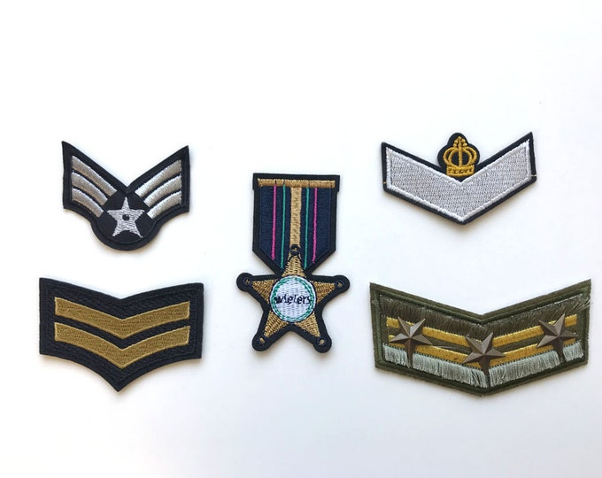 Various Military Applique, Iron on Patch, Sew on Patch (PATCH 1)