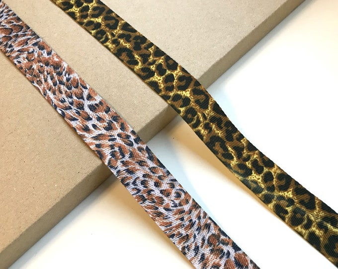 "Leopard Animal Ribbon tape trim 1 ""(2 leopard pattern)"