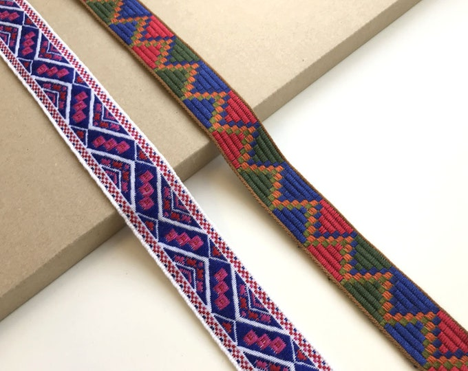 Jacquard trim(Soft touch, 2 tribal pattern)