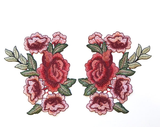 Multi color floral Embroidered Applique Patch (LOC Patch 2)