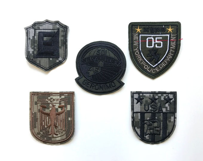 Various Military Applique, Iron on Patch, Sew on Patch