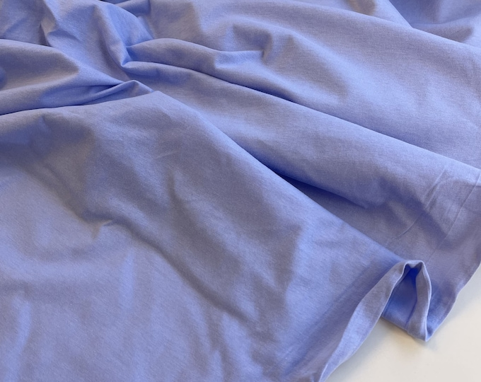 Cotton jersey and matching rib fabric - LT Blue, LT Green, Beige (Selling per yard)(Fabric 2, 5-1/2/3/4/5)