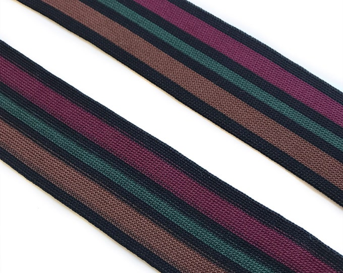 """3YD/Pack, 1 1/2"""" Multi color rib band knit tape trim (FT4)"""