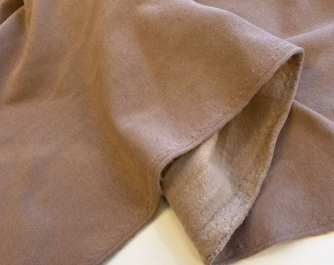 "Cotton/Poly  fleece heavy knit fabric - Taupe 72/74"" having matching rib (Selling per yard)(Fabric2)"