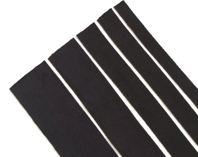 "Black Cotton twill tape( 1/2, 3/4, 1, 1 1/2"", 2"")"