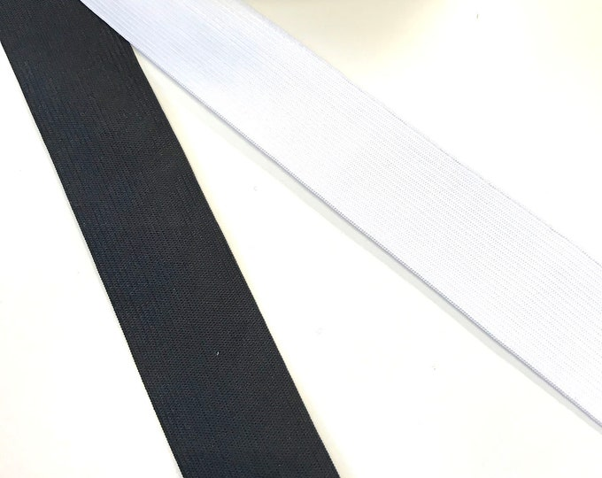 "1"", 1.5"", 2"" Elastic band trim(black, off white) 10YD/PACK, 20YD/PACK"