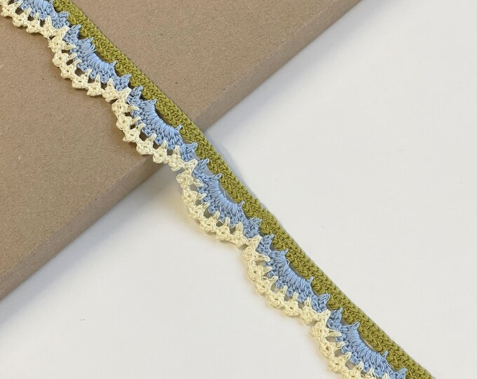 "Crochet braided edge trim 1 1/4""(LTF-1)"