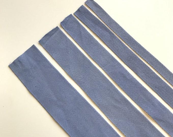 "Blue Cotton twill tape( 1/2, 3/4, 1, 1 1/2"", 2"") -  PetiteCocoCrafts Signature cotton ribbon collection (TRIM BASIC 10)"