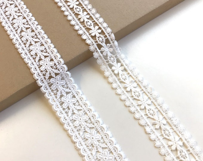 Off White 2 types of Cotton Lace Trim(LT13)