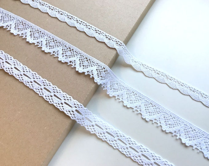 Off White 3 Various Width and Shape Lace Trim