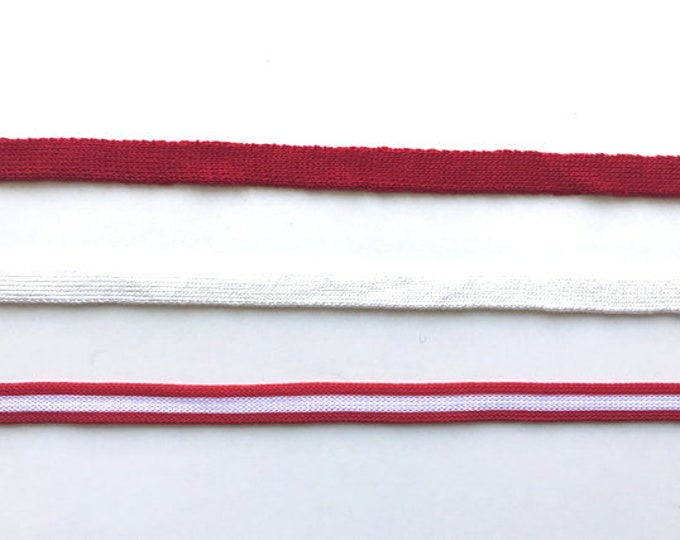 "Multiple colorway 3/8"" rib knit trim"