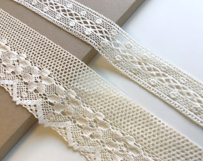 Natural 2 Various Width and Shape Lace Trim