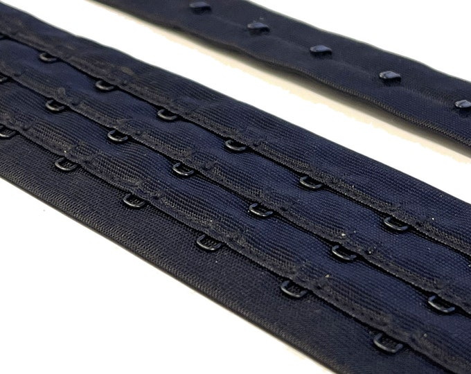 3 rows of eyes - Hook and Eye tape Black (Selling per yard) TRIM BASIC 11