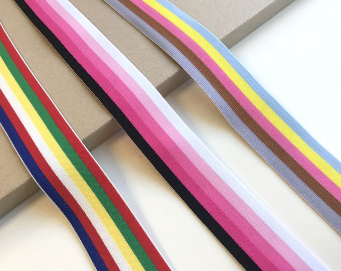 "Multiple colorway 1 1/2"" elastic band trim"