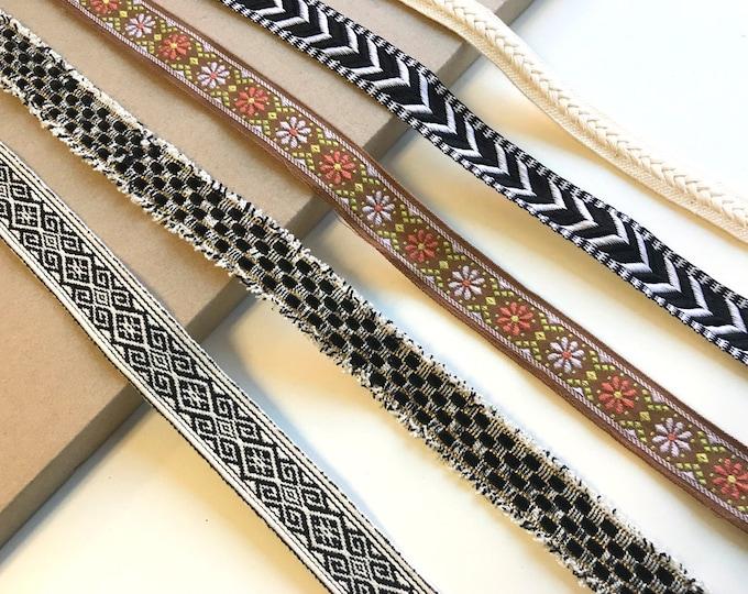 Jacquard tape trim(herringbone, tribal, etc patterns)