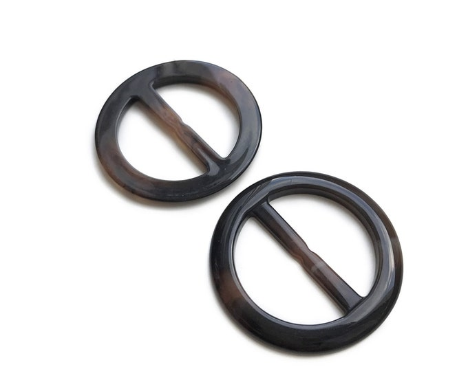 10PCS/PACK Plastic Woodgrain Round Buckle with inner bar, Over Kleshas